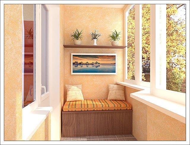 Варианты обшивки балкона